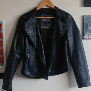 Faux leather jacket (polyester)